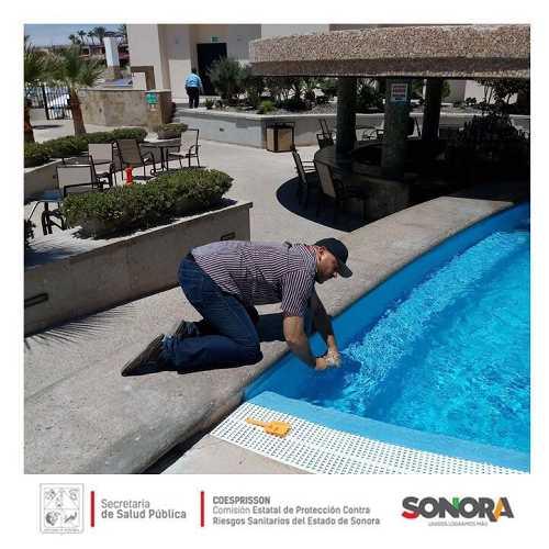 La Unidad de Control Sanitario continua realizando trabajos de monitoreo en la calidad de agua en albercas