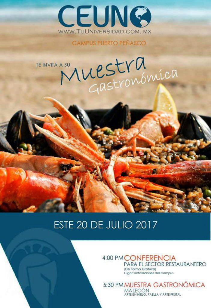 Universidad CEUNO. Puerto Peñasco te invita a su  muestra gastronómica este 20 de julio 2017 en el Malecón Fundadores