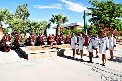 El Instituto Tecnológico Superior de Puerto Peñasco con un acto cívico celebró el aniversario de la Independencia de México.