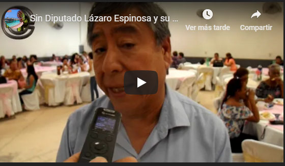 Diputado Lázaro Espinosa y su esposa festeja el día de madres con mujeres de Peñasco