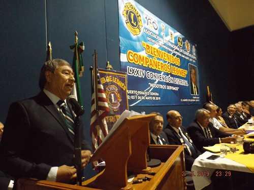 Lázaro Espinoza Mendívil, presente LXXlV  Convención Distrital,
