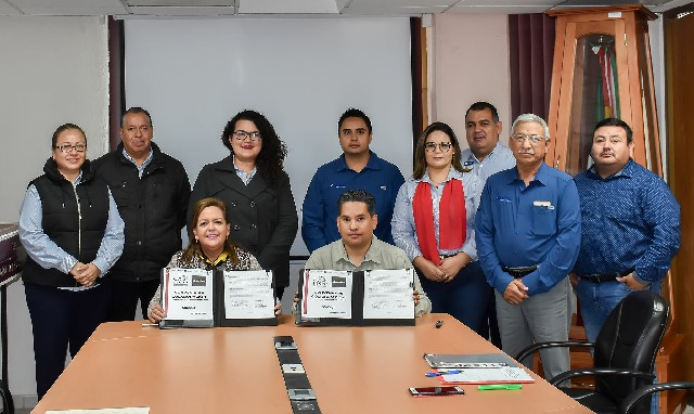 Protocolizan firma de colaboración ITSPP y AGENTEK S.C.
