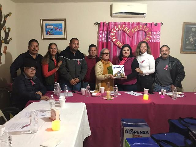 Comunicadores de Puerto Peñasco, A.C. apoya con despensa a la Agrupación San Peregrino