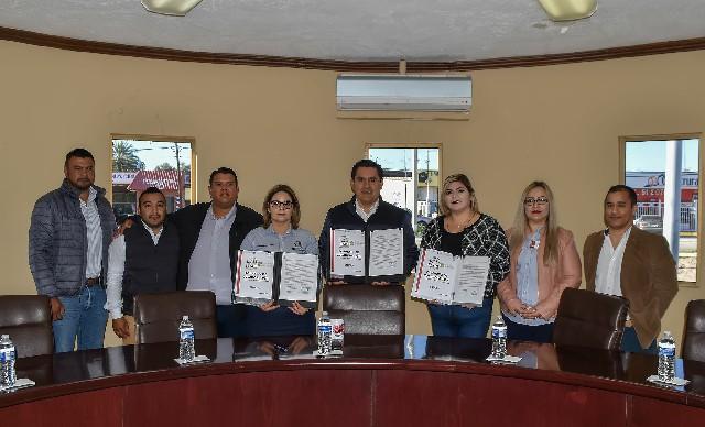 Firman convenio de Colaboración TecNM Campus Puerto Peñasco y H. Ayuntamiento de Gral. Plutarco Elías Calles