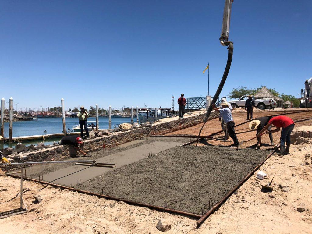 Continúan los trabajos de rehabilitación de La Bajada de los Pescadores.