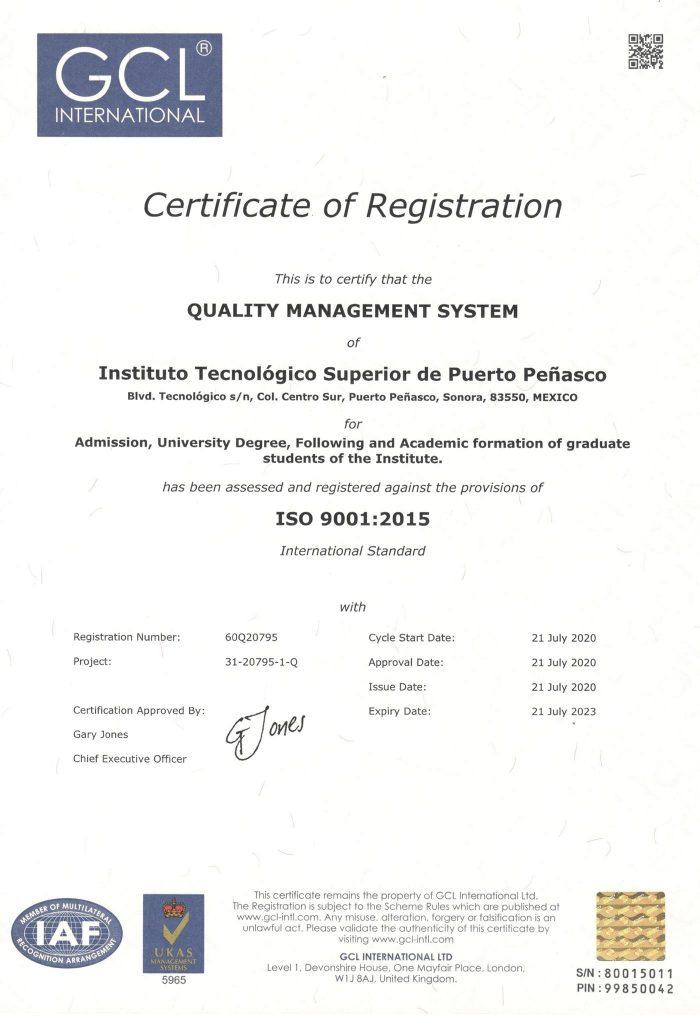 Cuenta el ITSPP con certificación en Sistema de Gestión Ambiental y recertificación en Sistema de Gestión de Calidad